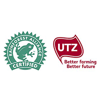 Rainforest Alliance and Utz certified
